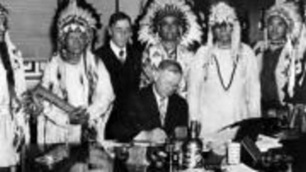 Franklin Delano Roosevelt signed the Indian Reorganization Act on June 18, 1934. He also made John Collier his Commissioner of Indian Affairs.