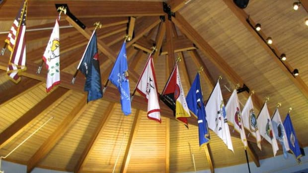 The flags of Minnesota's Indian Nations at the American Indian Resource Center