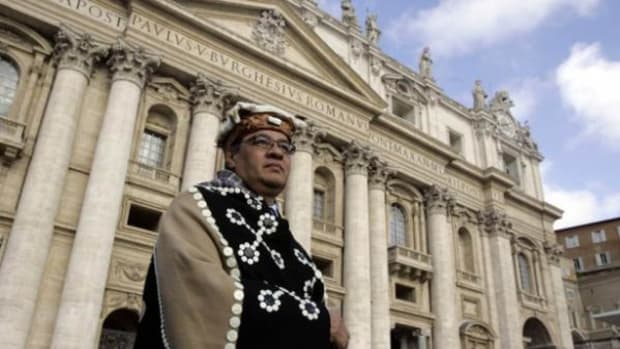 From one nation-state to another: Chief Edward John in Vatican City.