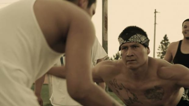 """Rob Brown (White Earth Ojibwe) in a scene from """"The Seventh Fire"""", executive produced by Terrence Malick and directed by Jack Pettibone Riccobono."""