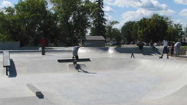 The skate park is open for business with grand opening set for August 29. (By Michael Meuers)