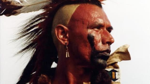 """Cherokee actor Wes Studi in his role in """"Dances With Wolves"""""""