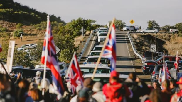 """Last June, Mauna Kea protectors managed to stop the Department of Land and Natural Resources from beginning construction on sacred Mauna Kea """"until further notice."""""""