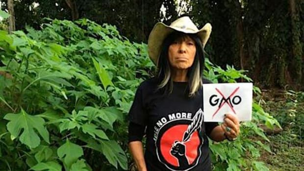 'If you really want to see something historic in your life, go to Fort McMurray and just bear witness to what they're doing,' says legendary musician-activist Sainte-Marie.