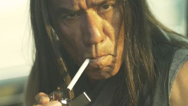 Wes Studi as Ronnie BoDean. 'I wanted to make a picture with a Native person where he wasn't getting saved by a non-Native,' says director Steven Paul Judd. Photo courtesy Steven Paul Judd.