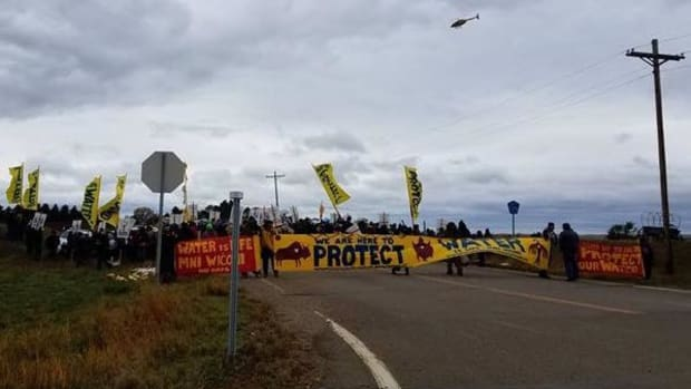 Protecting the water from the Dakota Access Pipeline.