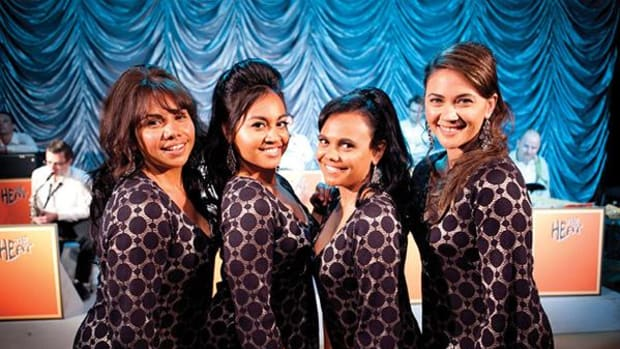 The girl group at the heart of 'The Sapphires' (left to right): Deborah Mailman as Gail, Jessica Mauboy as Julie, Miranda Tapsell as Cynthia, and Shari Sebbens as Kay