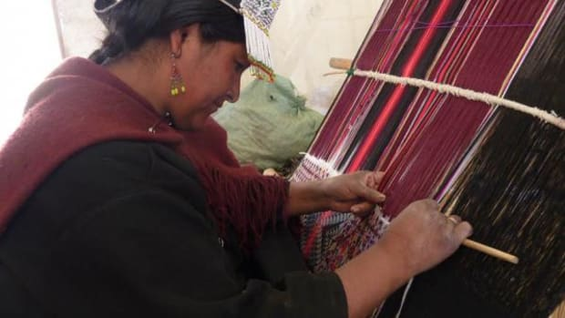 """""""Weaving is a form of writing,"""" says the director of Bolivia's museum of folklore."""