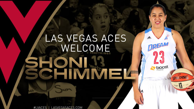 The Las Vegas President of Basketball Operations and Head Coach Bill Laimbeer announced Tuesday that the Aces have signed three-year WNBA veteran Shoni Schimmel.
