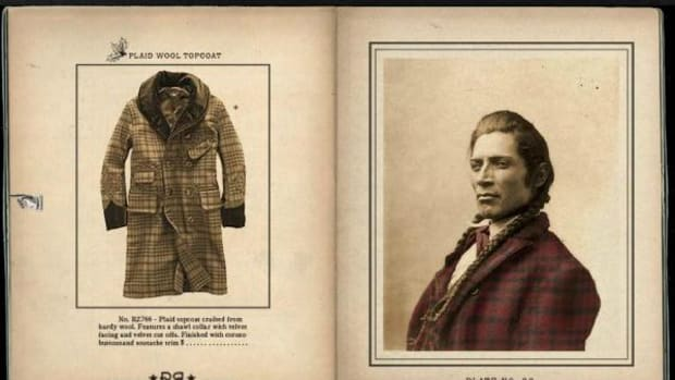 The Ralph Lauren clothing company is using photographs of Native Americans taken during the westward expansion era to market its featured holiday 2014 clothing line.