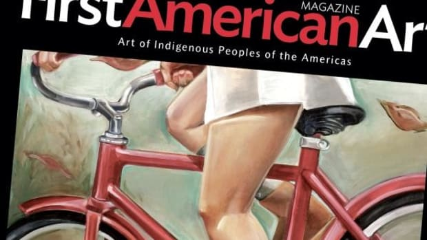 A painting by Nani Chacon on the cover of the Fall 2013 issue of First American Art Magazine.