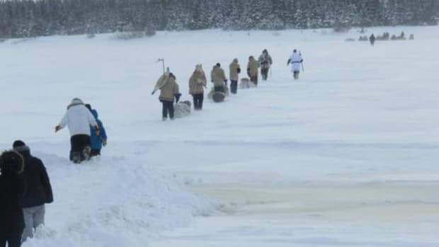 Cree youth journey 900 miles by snowshoe from Hudson Bay to Ottawa in support of Idle No More.