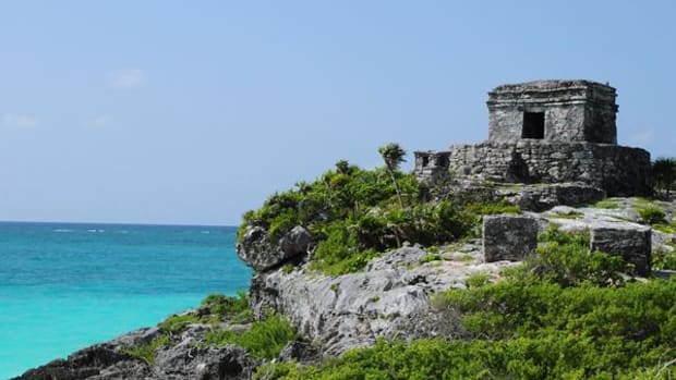 The ancient city of Tulum, on Mexico's Caribbean Coast, was part of a Mayan trade route 800 years ago