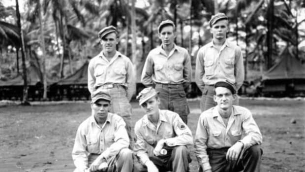 McConnell (front row, far left) was in the Third Alamo Scout Graduating Class, 1944.