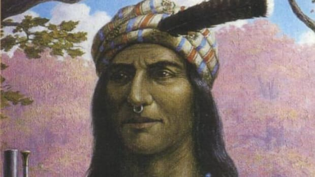 No verified image of Tecumseh is said to exist. He was said to have never abandoned Native dress and he was described in many documents as an exceptionally fine-looking man.