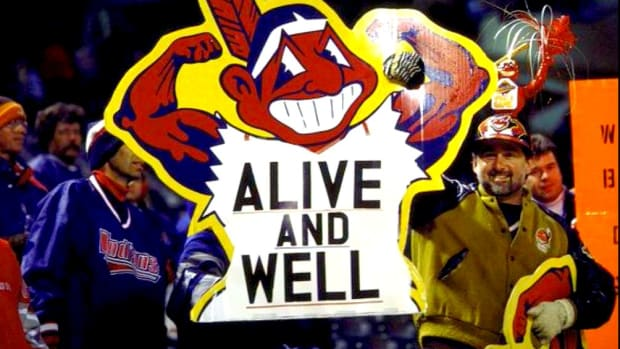 The Cleveland Indians  name and Chief Wahoo logo are alive and well.