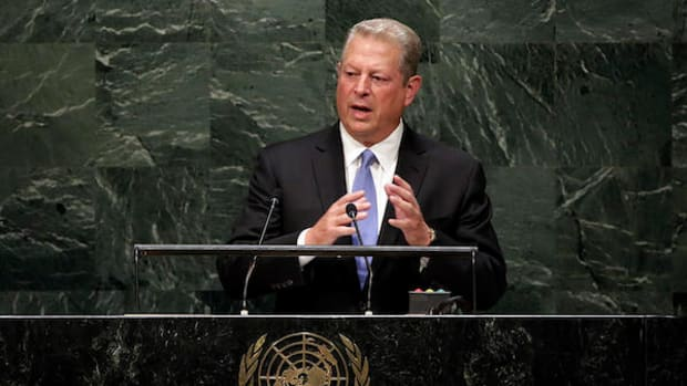 Former Vice President Al Gore speaks at the United Nations in 2015.