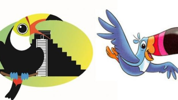 Maya Archaeology Initiative's logo and Toucan Sam