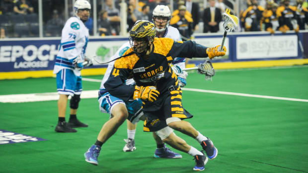Ending the 2017 season with the highest points accumulated in the Nationa Lacrosse League at 116, Georgia Swarm's no. 4 Lyle Thompson (Onondaga Nation) is a candidate for the NLL MVP which would be a first in Swarm history. Amy Morris