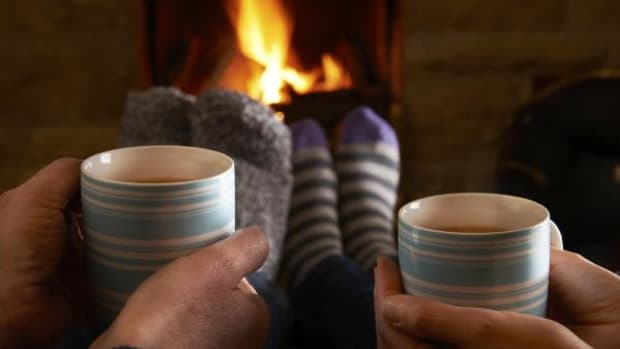 Sitting around the fireplace with a hot beverage is as good a place as any to tell stories.
