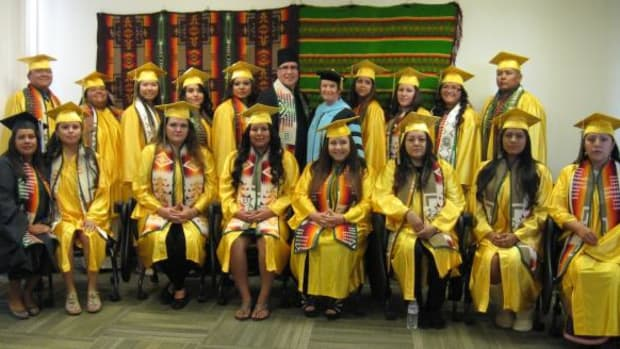 American Indian students graduating from Scottsdale Community College this past May 2014.