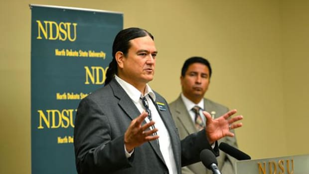 Left: Donald Warne, director of the Master of Public Health program and the new center; right: Scott Davis, executive director of the North Dakota Indian Affairs Commission