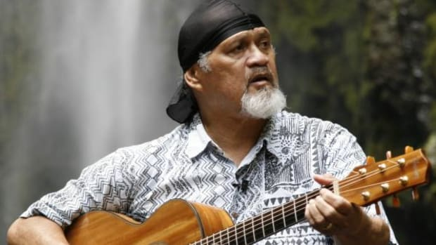 Slack Key Guitar Master Cyril Pahinui is Preserving Hawaii's Musical Traditions - Cyril at Hiilawe