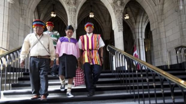 Delegates from Achuar communities of the Peruvian Amazon are in Canada to meet with First Nations affected by oil sands development similar to their own lands', plus attend the annual meeting of oil giant Talisman on May 1.