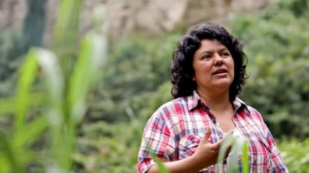 Berta Cáceres' won the Goldman Prize for her leadership in the fight against the Aqua Zarca dam on the Gualcarque River.