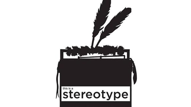 Logo for 'This Is a Stereotype' film project designed by Cannupa Hanska Luger and Dylan McLaughlin