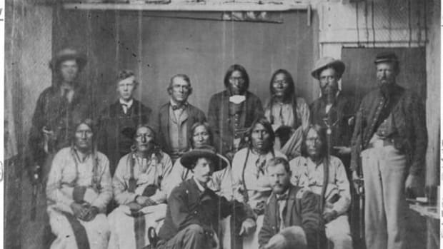 Cheyenne and Arapaho Chiefs at the Camp Weld Conference.