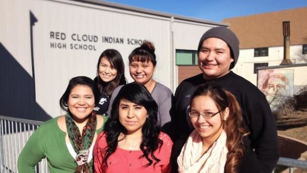 These six students have been awarded the prestigious Horatio Alger Scholarship at Red Cloud Indian School.