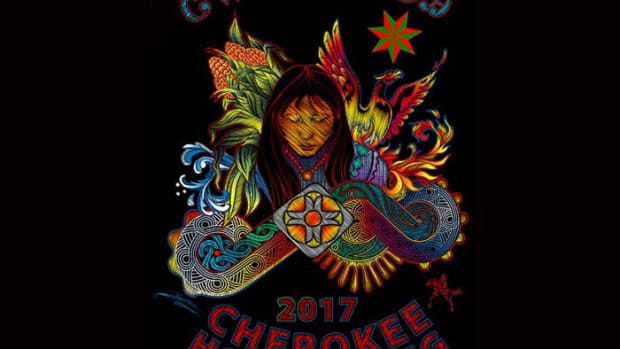 The Cherokee Phoenix just announced this year's commemorative t-shirt for Cherokee National Holiday will feature a design by Daniel HorseChief. The central image is Selu the Corn Mother.