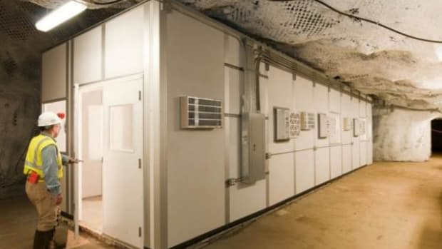 Ultra-pure copper manufactured in this cleanroom will be used for experiments on neutrino-less double-beta decay. (You had to ask.… )
