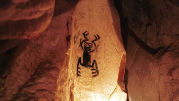A sign of the earliest times: Pre-Colombian drawings in a cave in San Cristobal prove that the Taíno have been here for centuries. (AP)