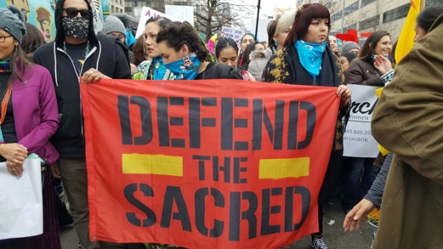 Indigenous Women March in D.C. in Protest – Defend the Sacred
