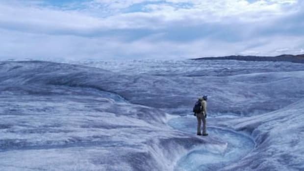 Greenland ice melt 2015. Scientists are finding that Arctic ice melting is feeding back on itself in a warming loop.
