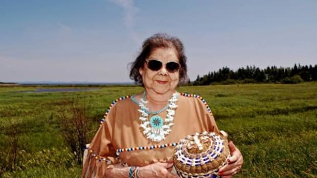 National Endowment for the Arts 2002 National Heritage Fellow and Passamaquoddy basketweaver Clara Neptune Keezer walked on August 2, 2016 at the age of 85.
