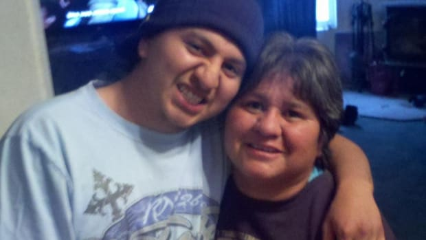 The late Antone Paradise, left, and his mom Colene. Antone committed suicide in 2014.