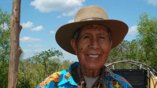 William Buffalo Tiger, the first tribal chairman of the Miccosukee Tribe of Indians of Florida, passed away on January 6, 2015.