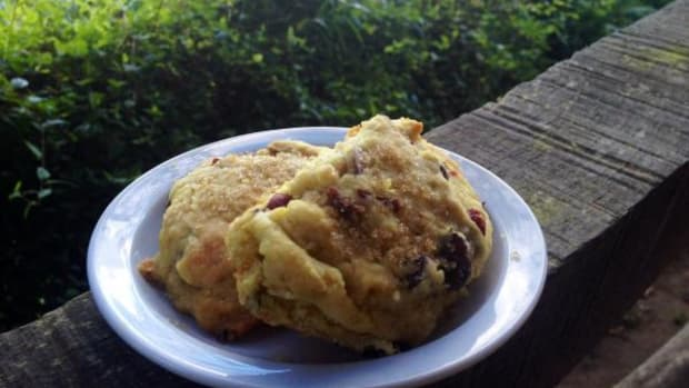 I whipped up these cranberry-orange scones the other day to serve some guests—they were a hit!