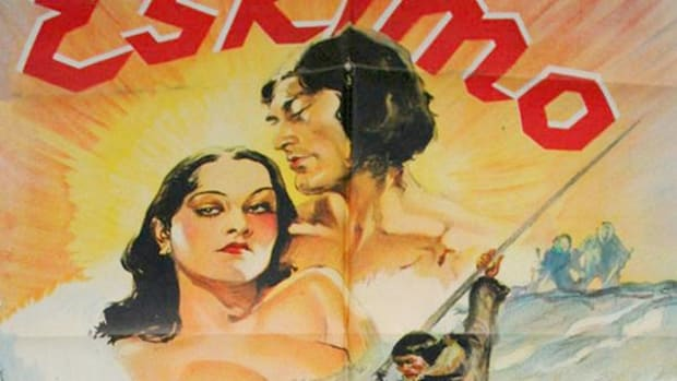 Poster for 1933 film 'Eskimo' (or 'Mala the Magnificent'), starring Ray Mala.