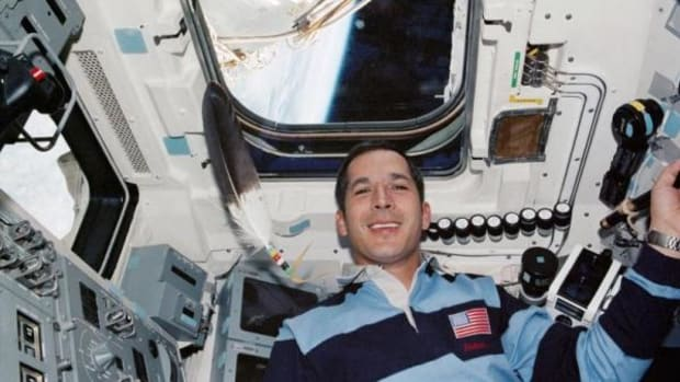 Chickasaw astronaut John Herrington, the first Native American in space, flew with an eagle feather.