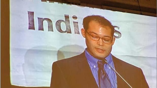 """Nick Carter, deputy political director for Sanders campaign: """"We are very proud that the campaign thus far has done very well with Native primary voters and we want to continue to not only harness that vote but to earn it."""""""