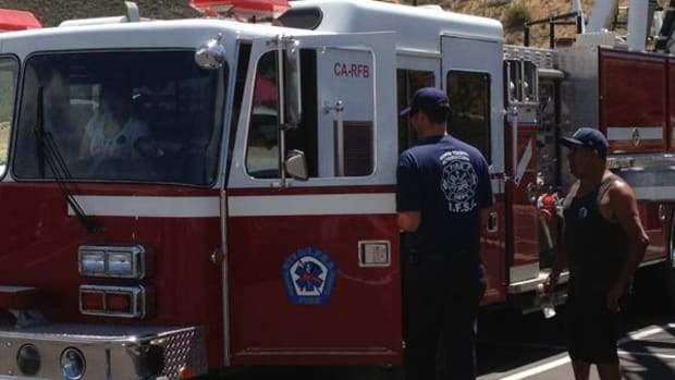Santa Ysabel Firefighters giving kids a tour on fire trucks during the Santa Ysabel Tribe's Preparedness Fiesta recently. The tribe hosted the event for the community to help prepare and educate the tribe and surrounding communities on wildfires.