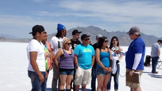 """Northwest Indian College students are interviewed by NASA and explain that their Supersonic Rocket """"Machness"""" will be displayed at the National Museum of the American Indian Smithsonian."""