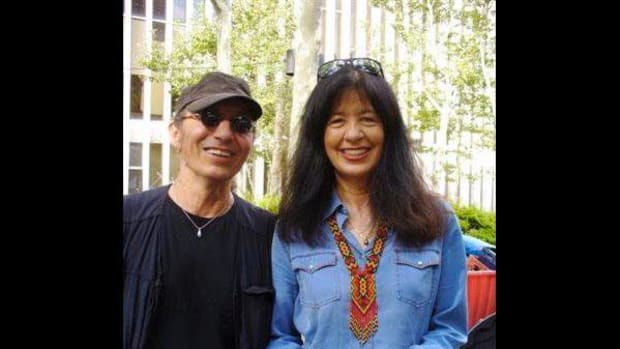 John Trudell and Joy Harjo are seen here in New York City in August 2007.