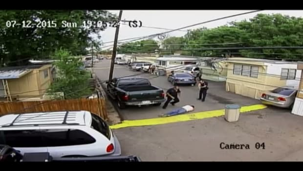 Denver Police shoot and kill 35-year-old Paul Castaway, Lakota, in Denver on July 23. The officer who shot Castaway, Officer Traudt, will not be charged in the killing.