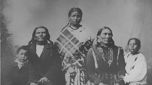 Standing Bear and his family.