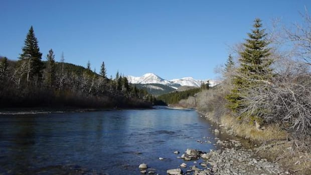 Badger Creek, in the sacred Badger–Two Medicine region of the Blackfeet Nation's traditional homelands, is part of the area threatened by oil leases granted more than 30 years ago.